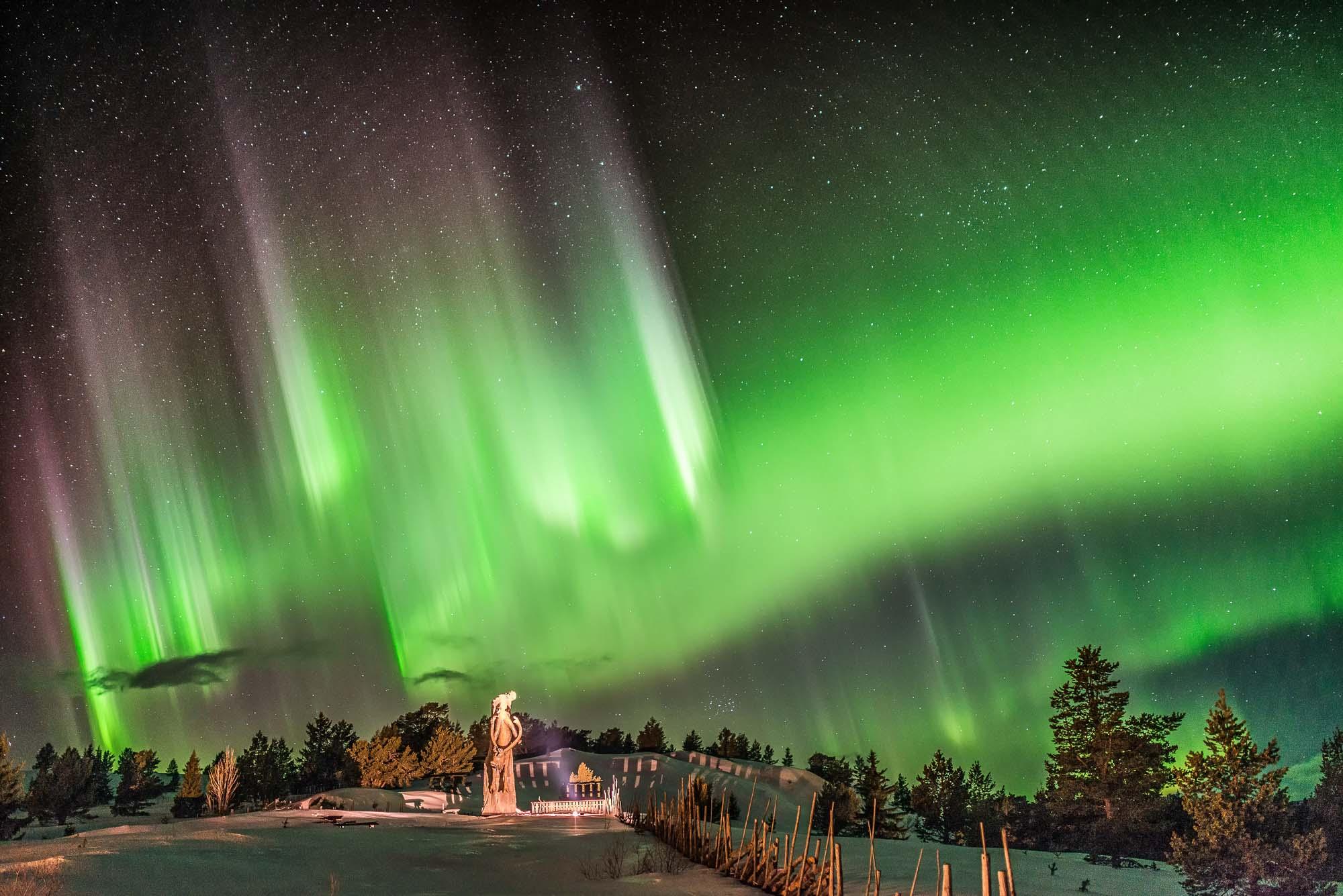 Är intresserad av nattfotografering och då när tillfälle ges nordlysfoto, denna bild är tagen vid rondablikk.